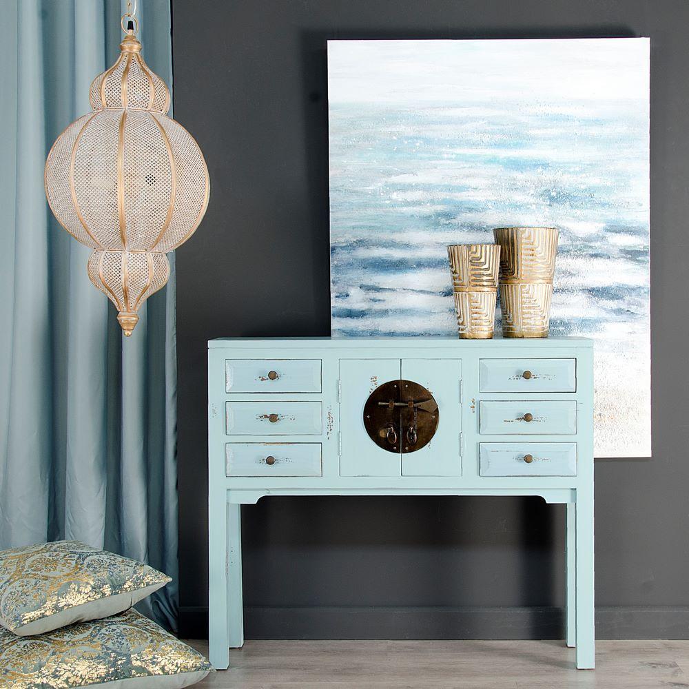 Consola china oriental benxi azul nuryba for Ixia muebles