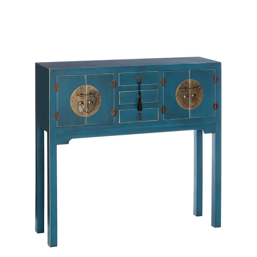 Consola China Oriental 4 Puertas Azul IX90953