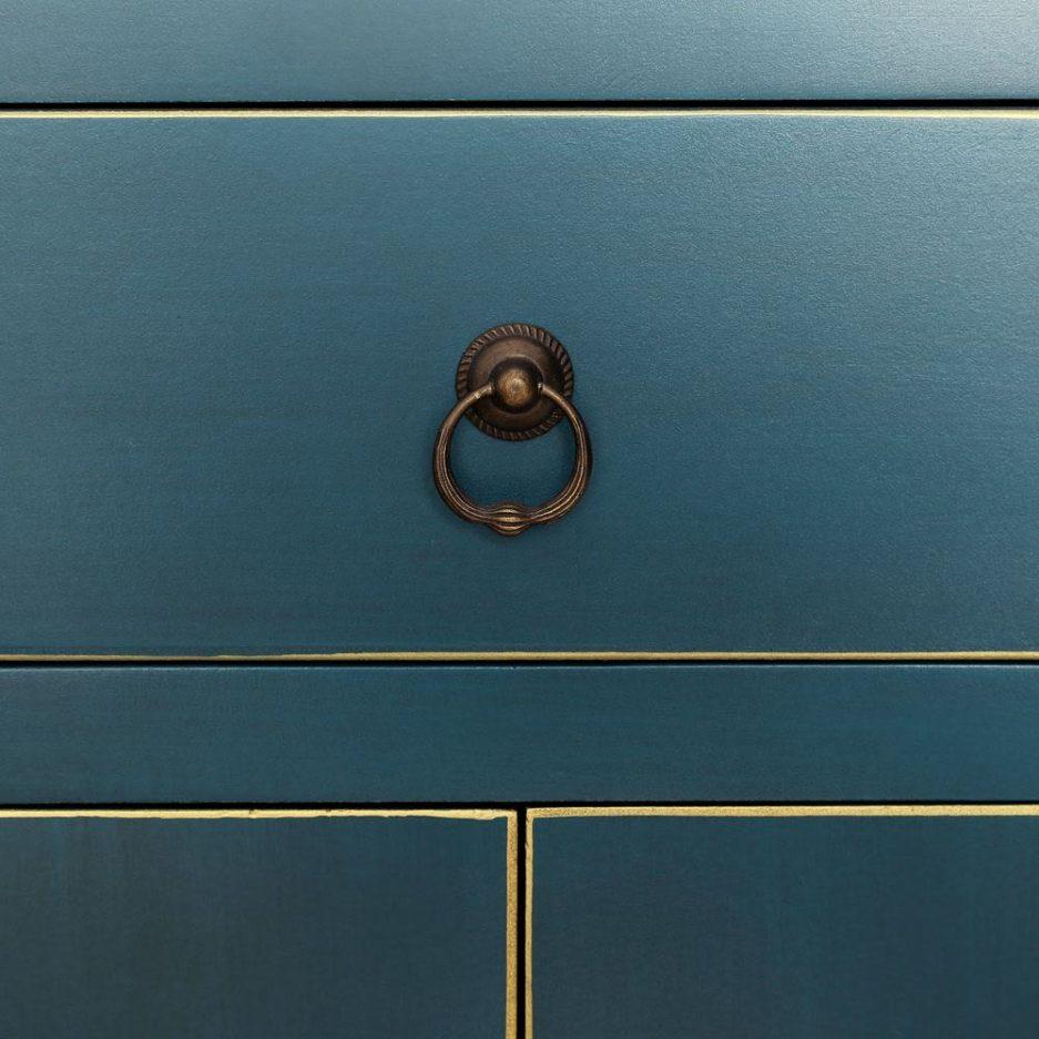 Armario Chino Oriental 4 Puertas Azul IX90957