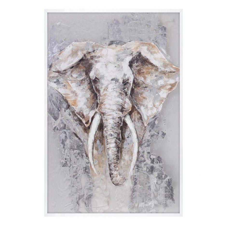 Cuadro pintura elefante África 120 cm IX103582