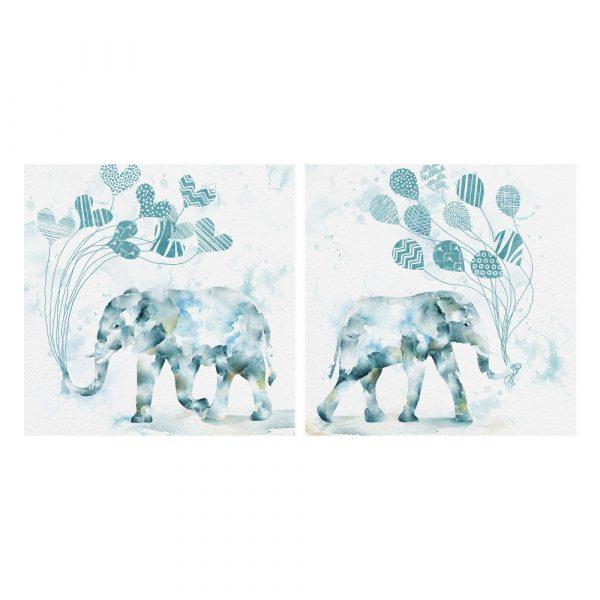 Cuadros pinturas elefantes África 60 cm IX103625