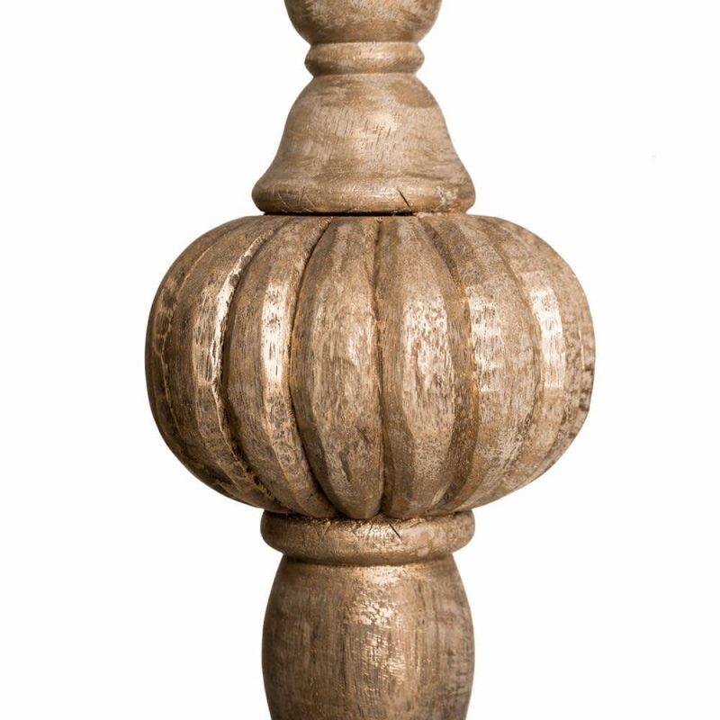 Portavelas madera natural 63 cm IX100669