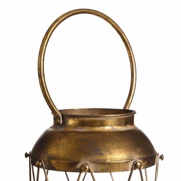 Farol decorativo metal oro 35 cm IX102186