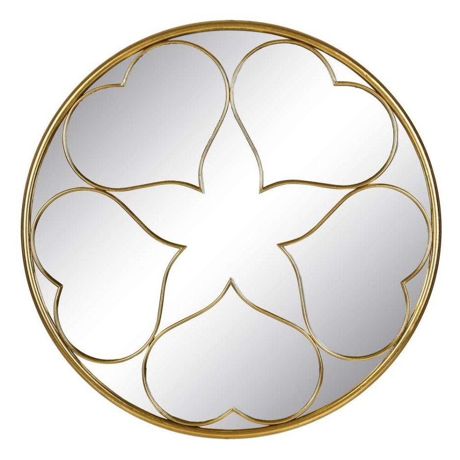 Espejo redondo pared dorado 91 cm IX103474