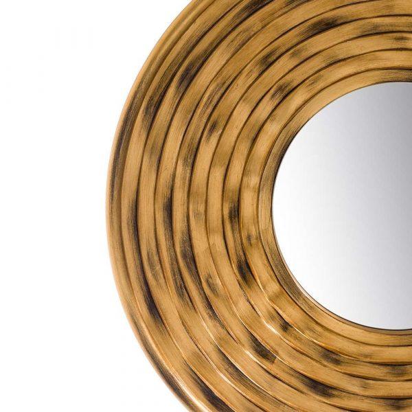 Espejo redondo pared dorado 79 cm IX103695
