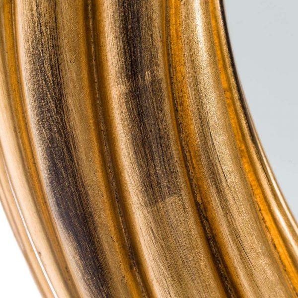 Espejo redondo dorado decorativo 80 cm IX103697