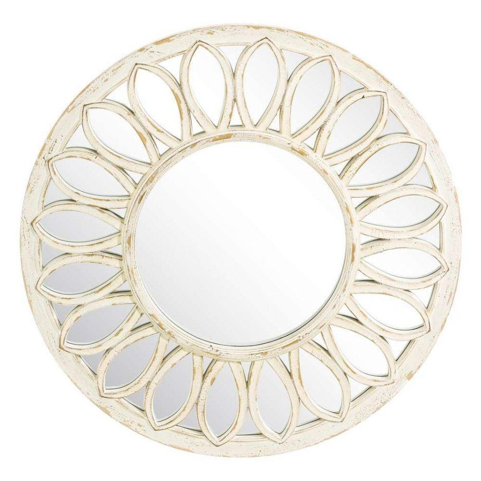 Espejo redondo pared blanco 81 cm IX103698