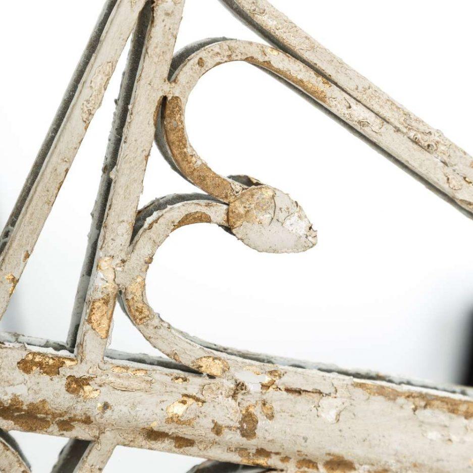 Espejo decorativo dorado blanco 150 cm IX103871