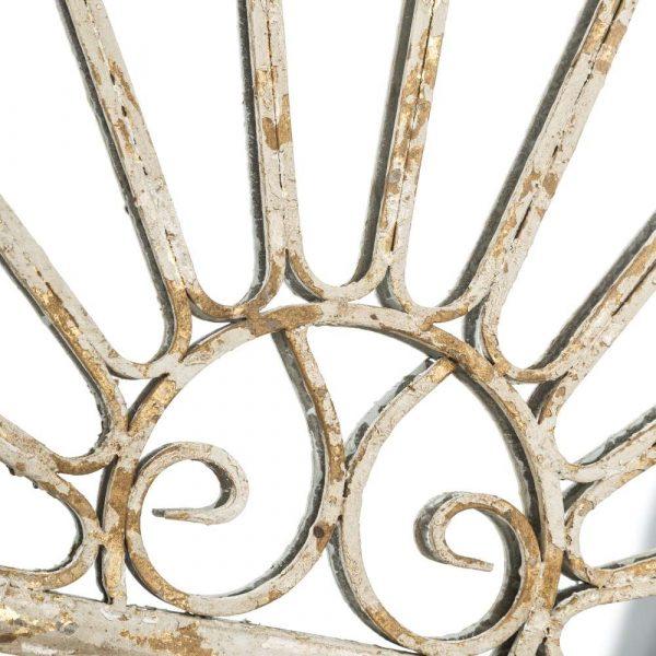 Espejo decorativo dorado blanco 180 cm IX103872