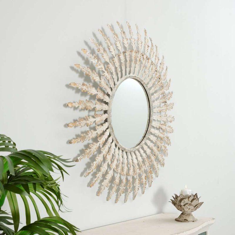 Espejo sol blanco 97 cm IX103873