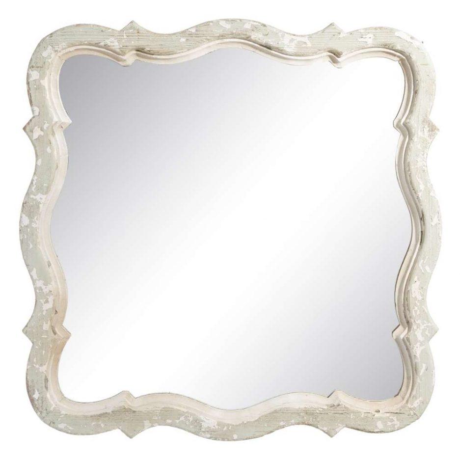 Espejo vintage blanco 75 cm IX103876