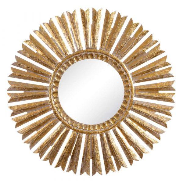 Espejo sol dorado 90 cm IX105705