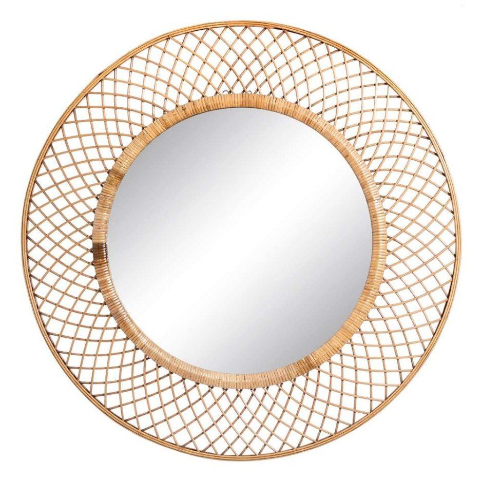 Espejo decorativo redondo 90 cm IX106054