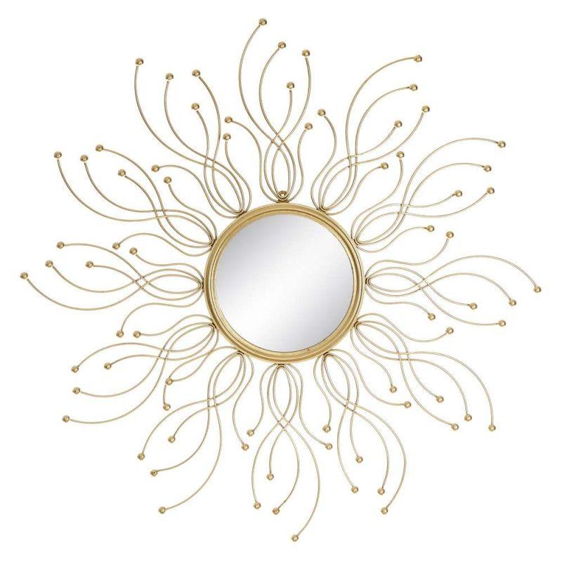 Espejo sol decorativo dorado 85 cm IX106064