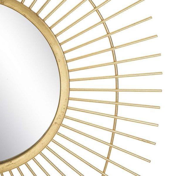 Espejo sol decorativo dorado 105 cm IX106065