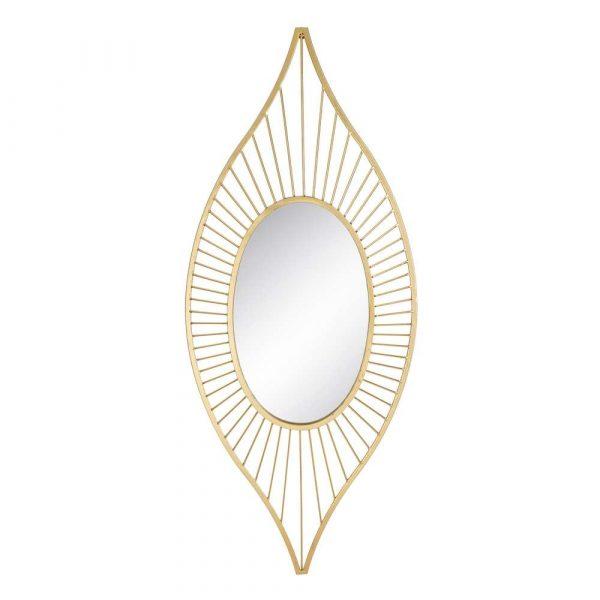 Espejo decorativo dorado 147 cm IX106066