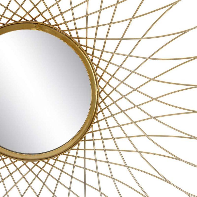 Espejo sol pared dorado 80 cm IX106069