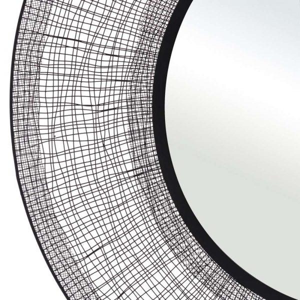 Espejo decorativo redondo negro 100 cm IX106110