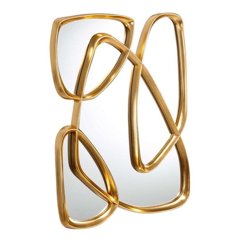 Espejo de pared decorativo dorado 90 cm IX106389