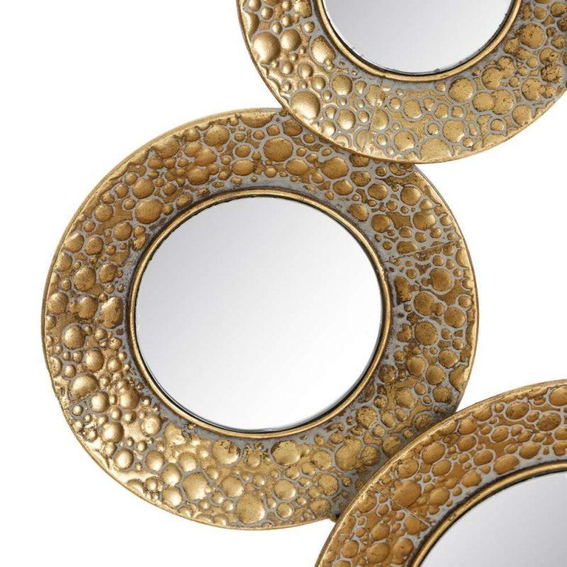 Espejo moderno dorado 103 cm IX106431