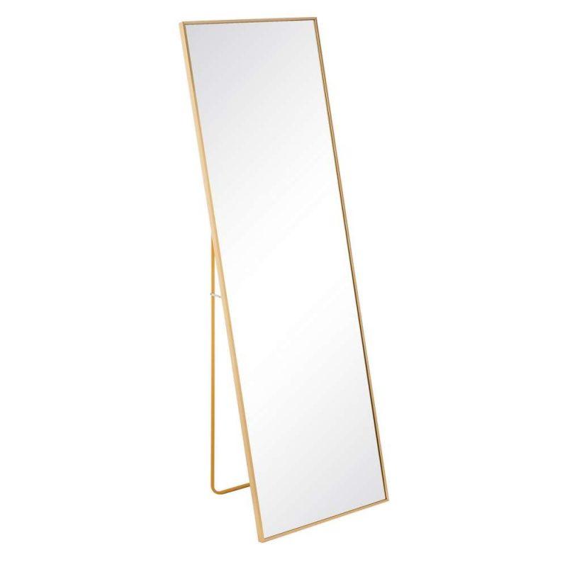 Espejo de pie dorado 160 cm IX106735