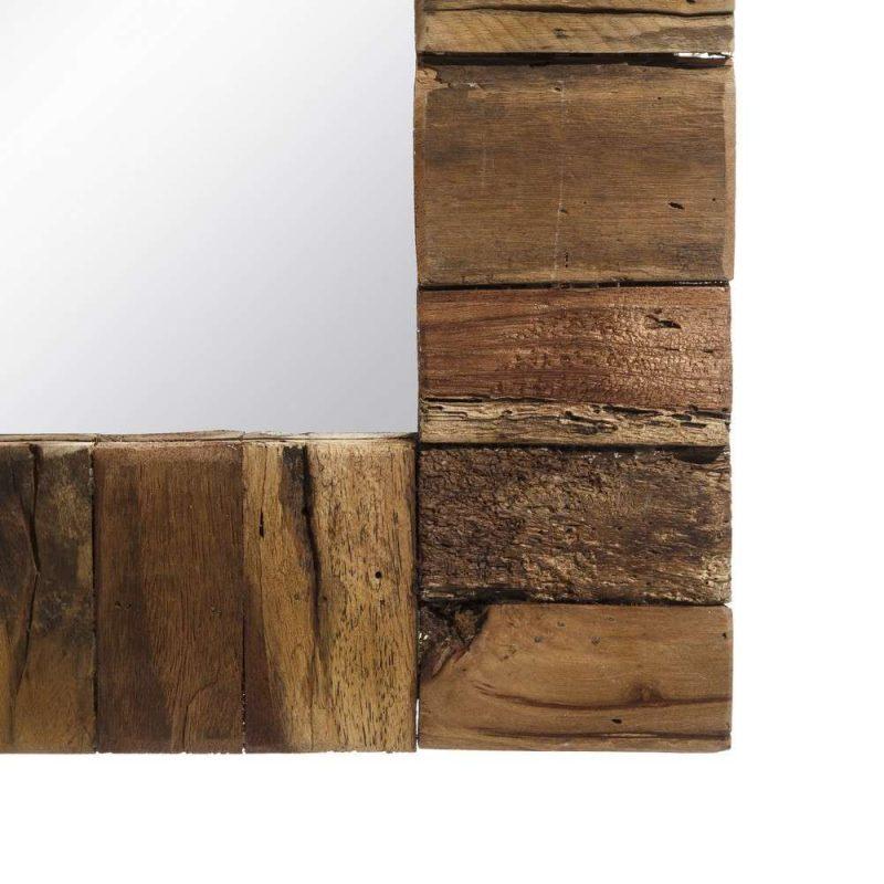 Espejo recibidor pared madera 170 cm IX106873