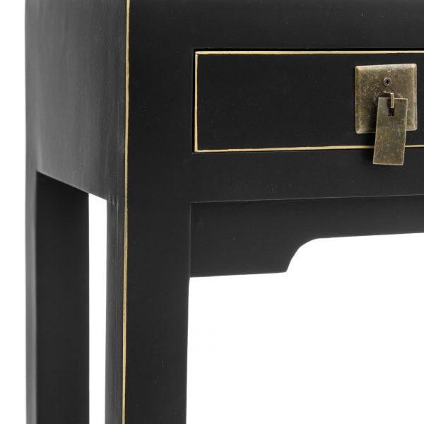 Consola china Hangzhou 3 cajones negra IX151189