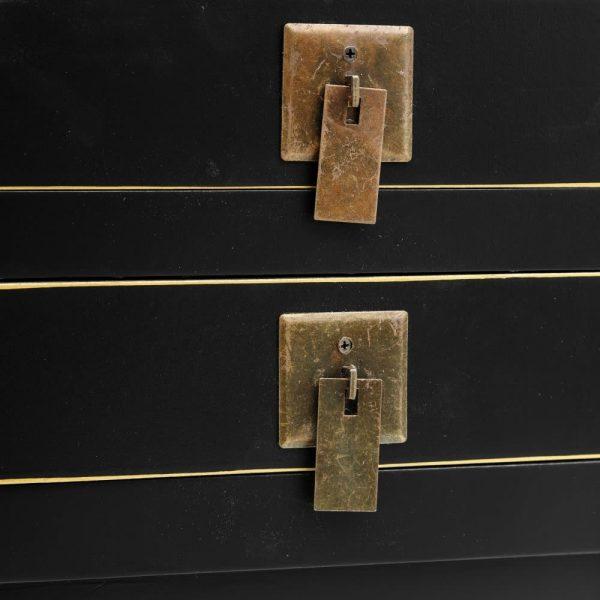 Consola china Hangzhou 6 cajones negra IX151192