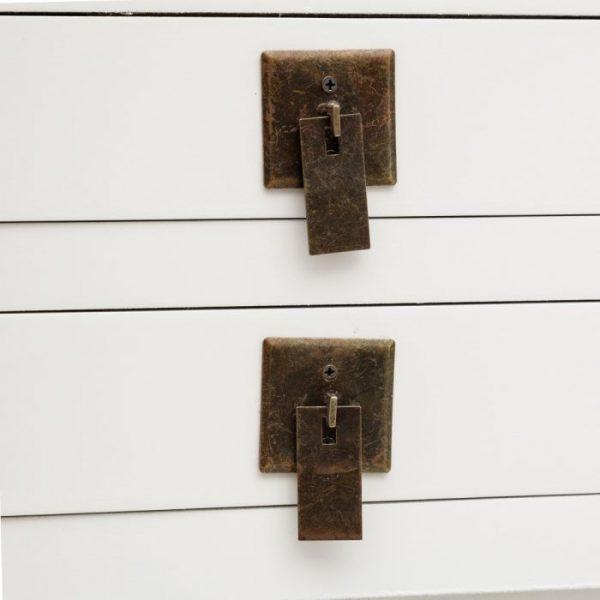 Consola china Hangzhou 6 cajones blanca IX151193