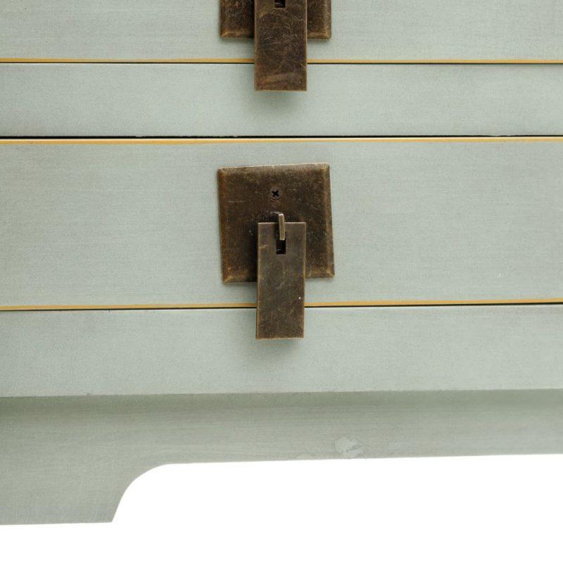 Consola china Hangzhou 6 cajones verde IX151194