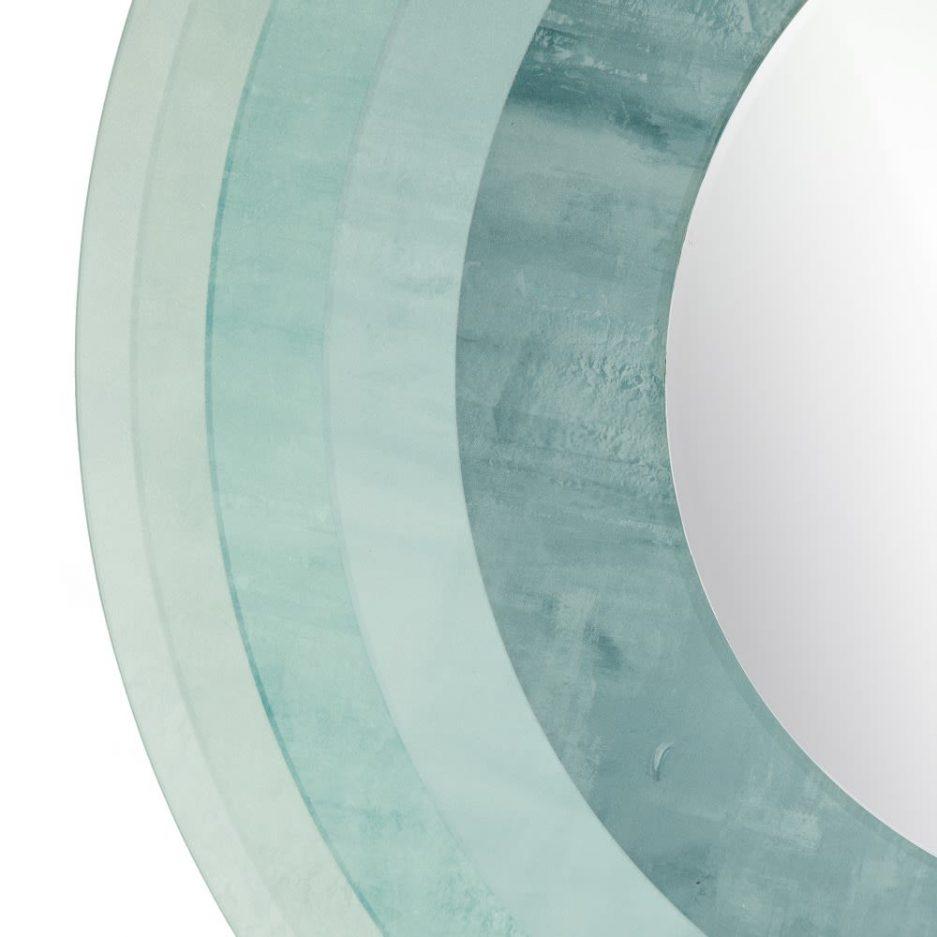 Espejo decorativo redondo azul 80 cm IX151544