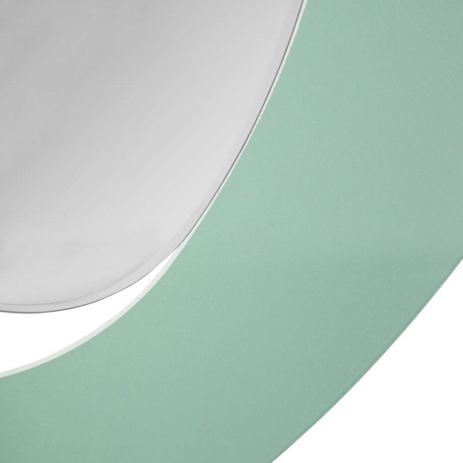 Espejo decorativo de pared verde 90 cm IX151546