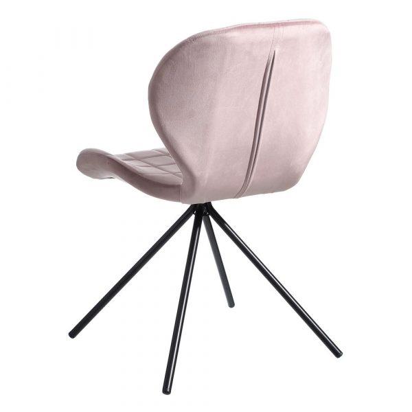 Silla de comedor nórdica rosa Vejen 2 unidades IX107887