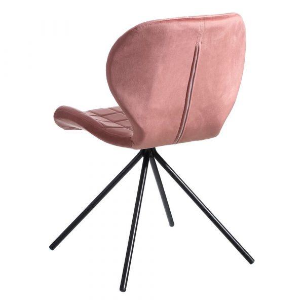 Silla de comedor nórdica rosa tropical Vejen 2 unidades IX107888