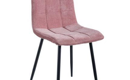 Silla de comedor nórdica rosa Fyn 2 unidades IX121855