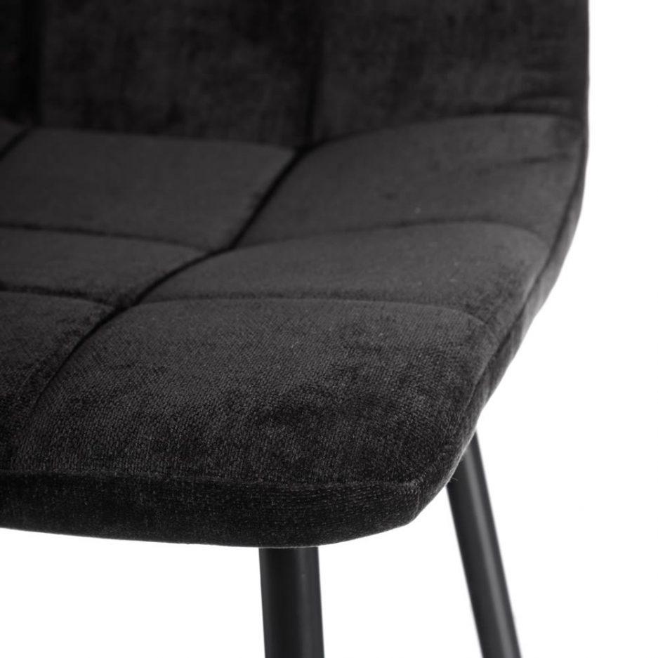 Silla de comedor nórdica negra Fyn 2 unidades IX121861