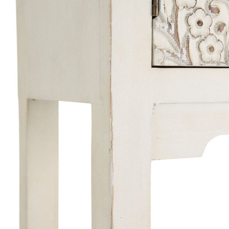 Consola China Oriental 4 Puertas Blanco Rozado IX103160