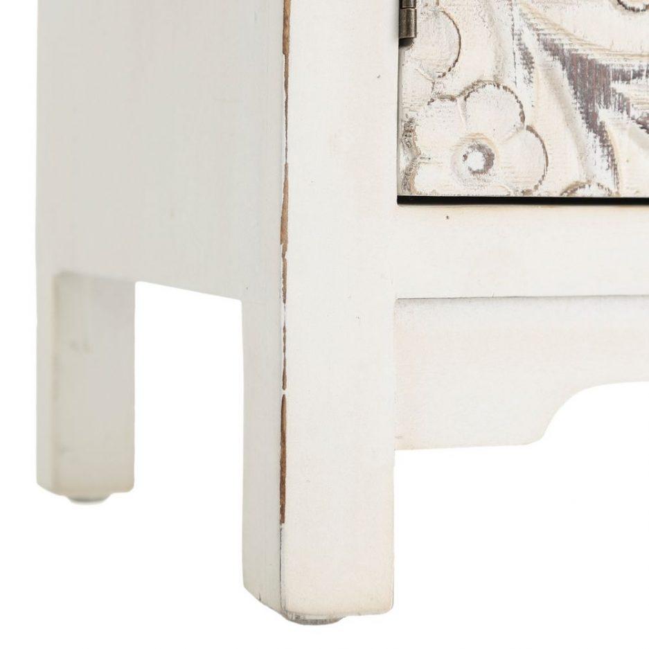 Armario Chino Oriental 4 Puertas Blanco Rozado IX103164