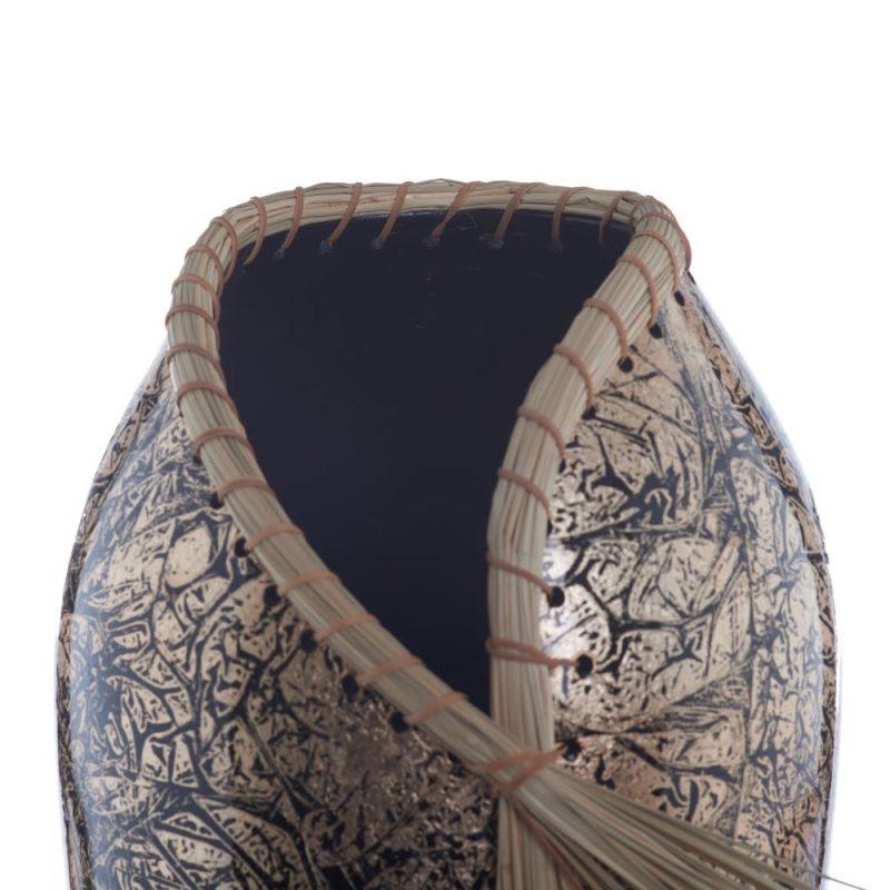 Jarrón decorativo negro oro 54 cm IX153814
