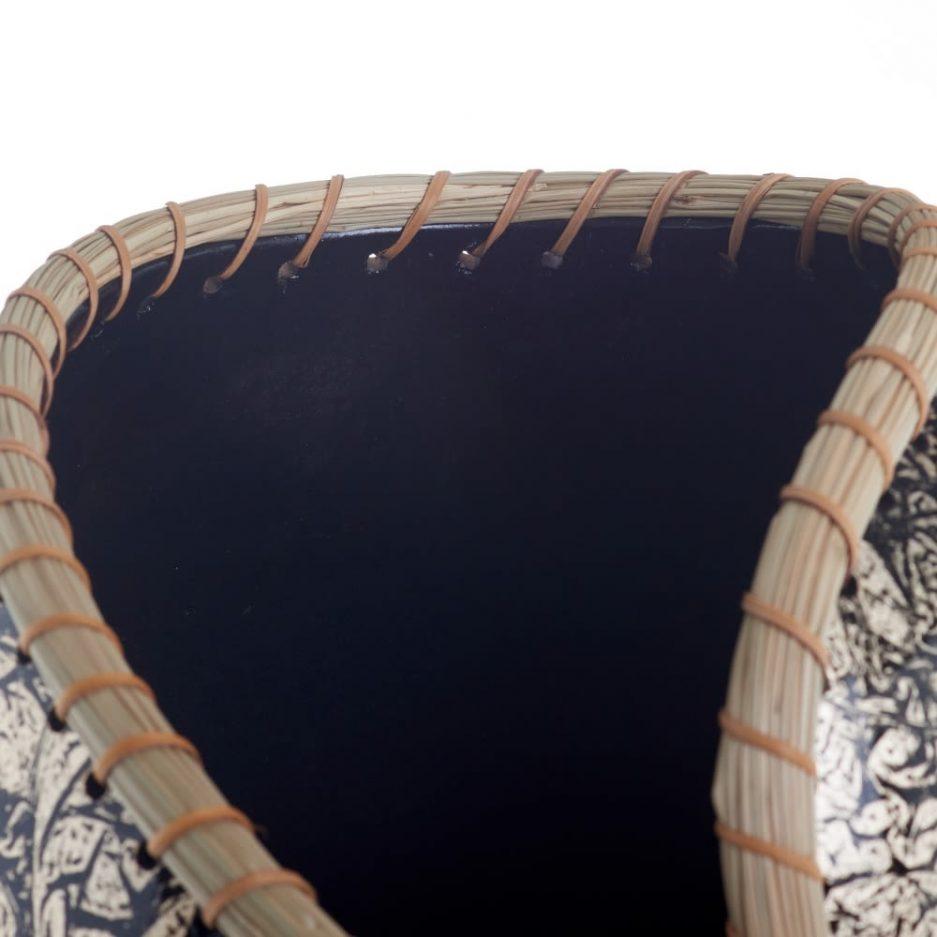 Jarrón decorativo negro oro 65 cm IX153815