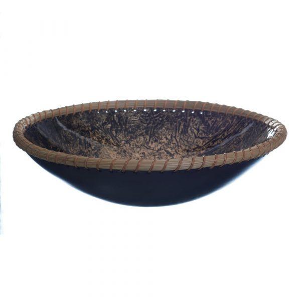 Centro de mesa decorativo negro oro 36 cm IX153816