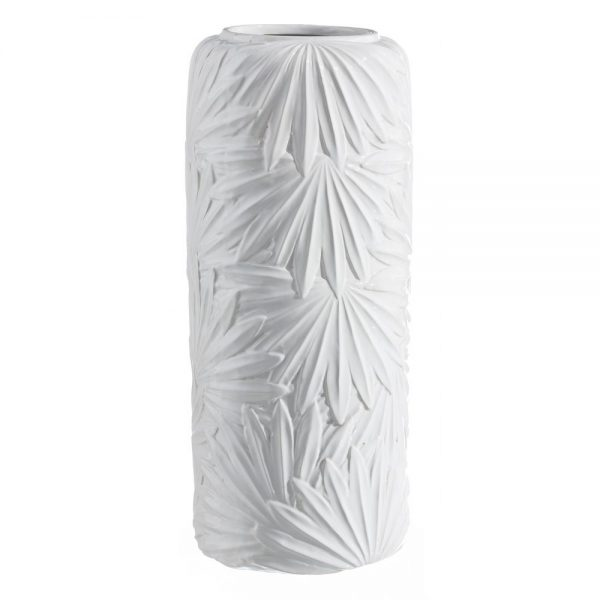 Jarrón decorativo moderno blanco 43 cm IX108749