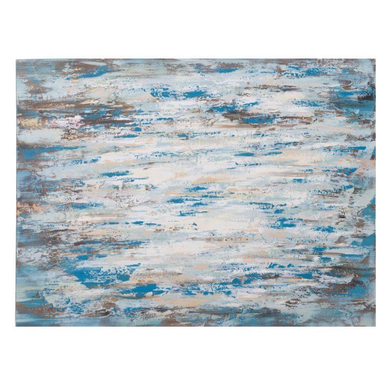 Pintura decorativa abstracta moderna azul IX151589