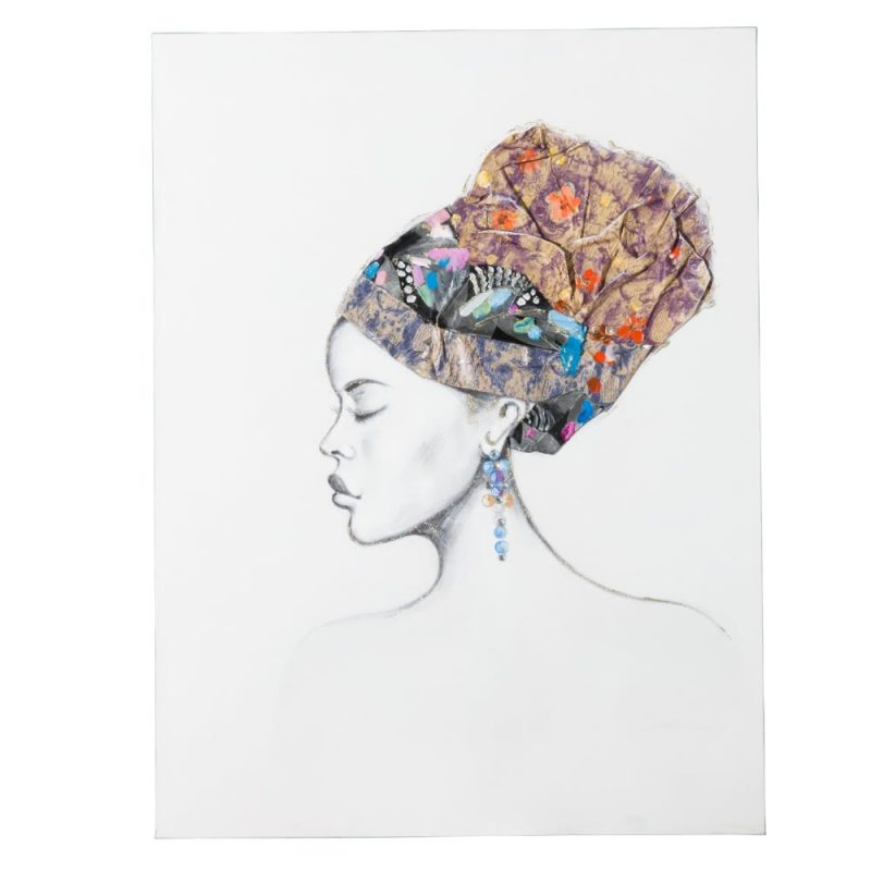 Cuadro África mujer IX151610