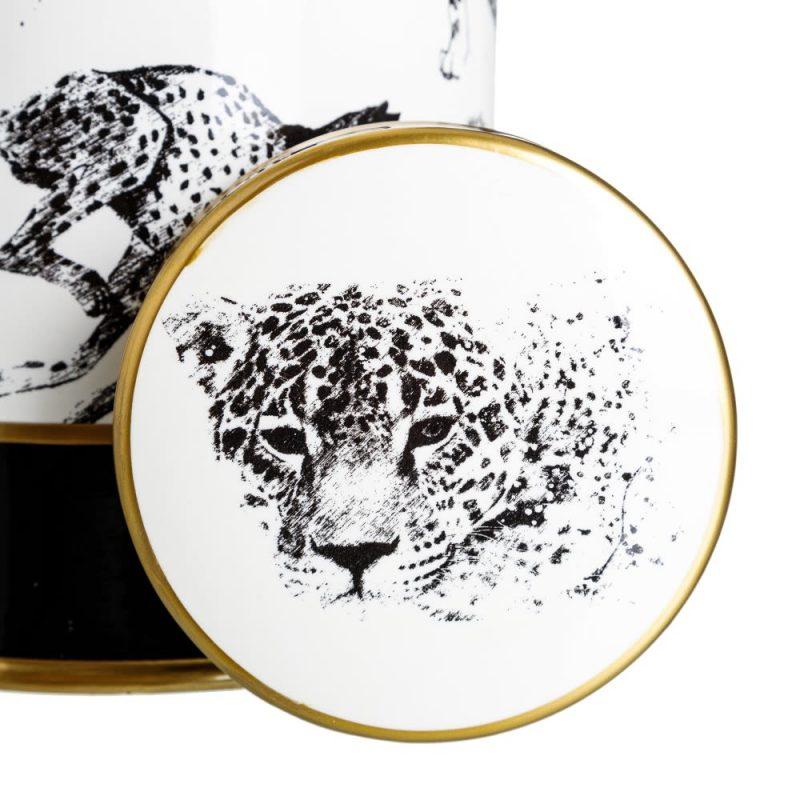 Jarrón decorativo blanco negro Kimana 37 cm IX151889
