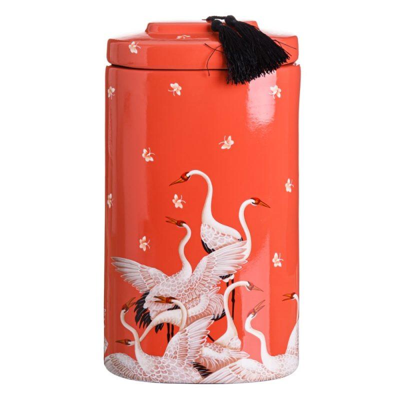 Jarrón chino decorativo naranja Shiyan 42 cm IX151893