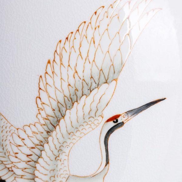 Jarrón decorativo blanco Baiyin 32 cm IX151901