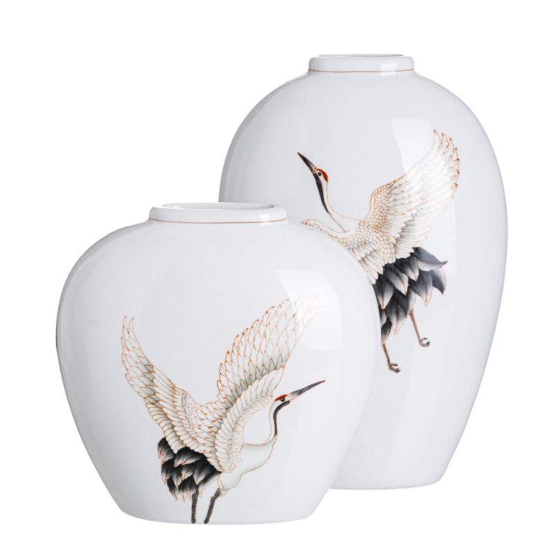 Jarrón decorativo blanco Baiyin 45 cm IX151902