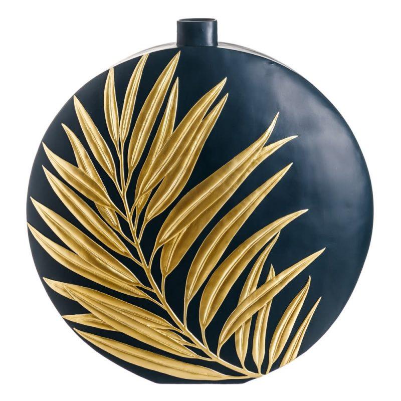 Jarrón decorativo moderno dorado 68 cm IX151959
