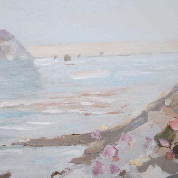 Cuadro pintura paisaje marinero playa 120 cm IX152697
